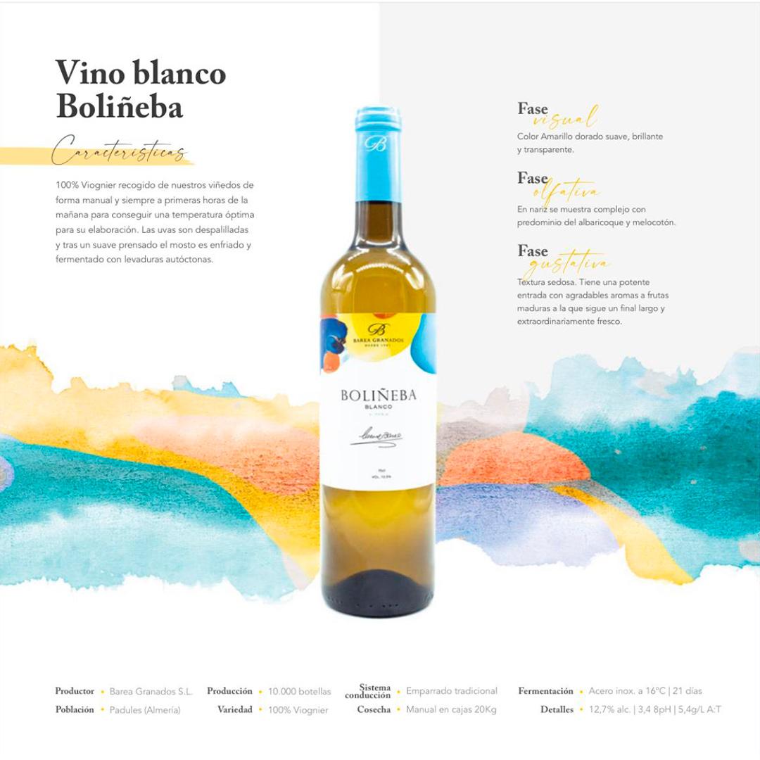 Vino blanco boliñeba Afrutado Padules